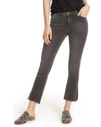 Free People Straight Leg Cropped Jeans - Black