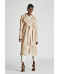 Yigal Azrouël - Laminated Lace Trench Coat - Lyst