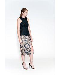 Yigal Azrouël - Leopard Print Scuba Skirt - Lyst