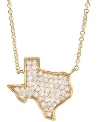 TIBA Lebanon Map Outline Necklace - Lyst