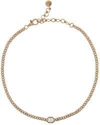 SHAY Illusion Diamond Pavé Baby Link Choker Necklace - Multicolor