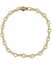 Sydney Evan - Round Rectangle Bracelet - Lyst