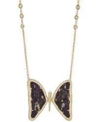 Jacquie Aiche - Large Opal Butterfly Necklace - Lyst