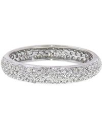 Sethi Couture - Wide Pavé Diamond Band Ring - Lyst