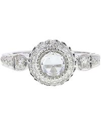 Sethi Couture - White Diamond Solitaire Ring - Lyst