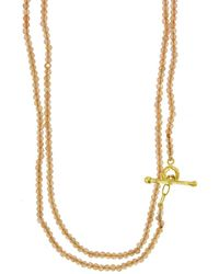 Cathy Waterman - Peach Moonstone Beaded Necklace - Lyst