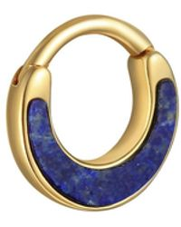 Pamela Love Lapis Inlay Clicker Single Hoop Earring - Blue