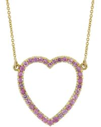 Jennifer Meyer - Pink Sapphire Open Heart Necklace - Lyst