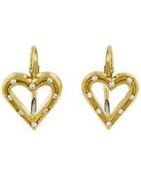 Cathy Waterman - Fairy Lights Heart Earrings - Lyst