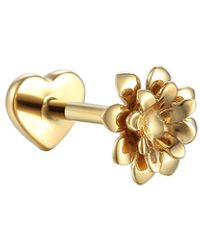 Pamela Love Anemone Single Thread Through Stud Earring - Metallic