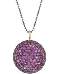 Sharon Khazzam - Pink Sapphire Lentil Pendant Necklace - Lyst