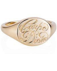 Laura Lee - Carpe Diem Signet Ring - Lyst