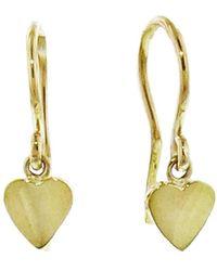 Jennifer Meyer - Mini Heart Drop Earrings - Lyst