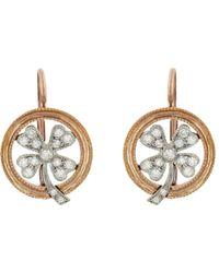 Cathy Waterman - Diamond Four Leaf Clover Earrings - Lyst