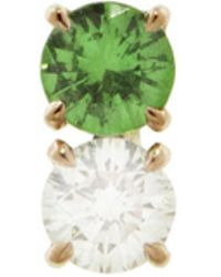 Raphaele Canot - Confetti Green Tsavorite And Diamond Stud Earring - Lyst