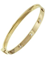 SHAY - Octagon Diamond Bullet Bangle Bracelet - Lyst