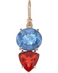 Irene Neuwirth - One-of-kind Aquamarine And Fire Opal Single Earring - Lyst