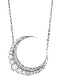 Jacquie Aiche - Large Diamond Crescent Moon Necklace - Lyst