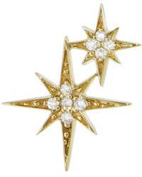 Sydney Evan - Double Starburst Stud Earring - Lyst