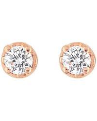 Ginette NY - Mini Diamond Puce Stud Earrings - Lyst