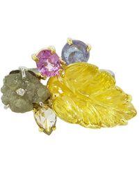 Sharon Khazzam Norma Leaf Ring - Multicolor