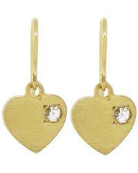 Irene Neuwirth - Charity Charm Heart Earrings - Lyst