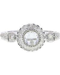 Sethi Couture White Diamond Solitaire Ring - Metallic