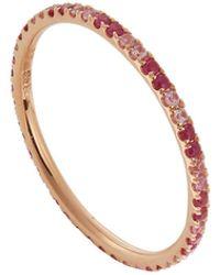 Ileana Makri Ruby And Pink Sapphire Thread Stripes Band Ring