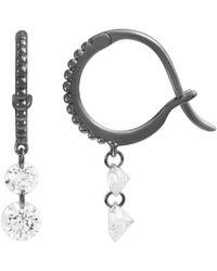 Raphaele Canot - Set Free Double Diamond Beaded Mini Hoop Earrings - Lyst