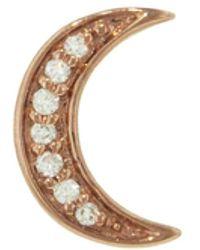 Andrea Fohrman Mini Diamond Crescent Moon Single Stud Earring - Multicolor