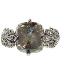 Cathy Waterman - Inverted Rustic Diamond Leafside Ring - Lyst