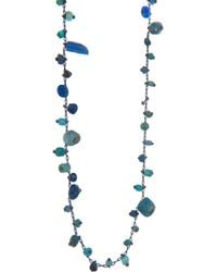 Ten Thousand Things - Double Studded Blue Ancient Bead Necklace - Lyst