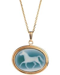 Laura Lee - Agate Horse Cameo Necklace - Lyst