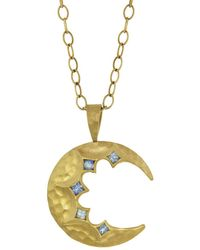 Cathy Waterman - Blue Sapphire Crescent Moon Charm - Lyst