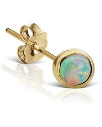 Maria Tash - 4mm Natural Opal Stud Earring - Lyst