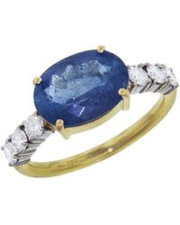 Irene Neuwirth - Oval Aquamarine Diamond Ring - Lyst