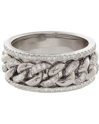 SHAY - Diamond Nameplate Link Ring - Lyst
