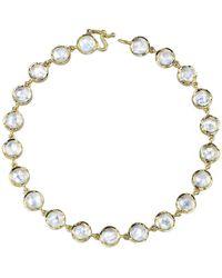 Irene Neuwirth - Rose Cut Rainbow Moonstone Bracelet - Lyst