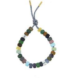 Carolina Bucci Forte Beads Moonbow Gunmetal Bracelet Kit - Green