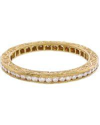 Sethi Couture - White Diamond Prong Set Band Ring - Lyst