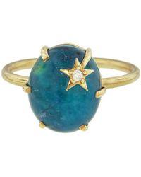 Andrea Fohrman - Chrysocolla And Clear Quartz Mini Star Ring - Lyst