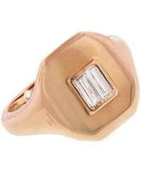 SHAY - Essential Baguette Diamond Pinky Ring - Lyst