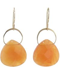Melissa Joy Manning - Botswana Agate Single Drop Earrings - Lyst