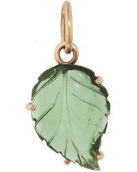 Irene Neuwirth - One-of-a-kind Carved Green Tourmaline Leaf Charm - Lyst