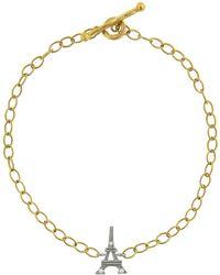 Cathy Waterman - Diamond Eiffel Tower Chain Bracelet - Lyst