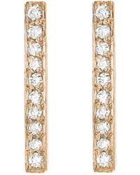 Jennifer Meyer - Diamond Long Bar Stud Earrings - Lyst