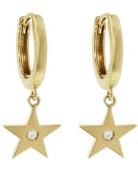 Andrea Fohrman - Diamond Star Drop Earrings - Lyst
