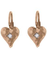 Cathy Waterman - Diamond Heart Earrings - Lyst