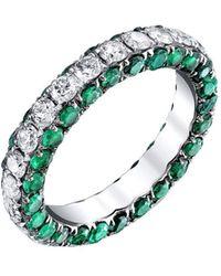 SHAY - Three Sided Emerald And Diamond Eternity Ring - Lyst