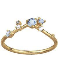 Wwake - Sapphire Diamond Organic Ring - Lyst